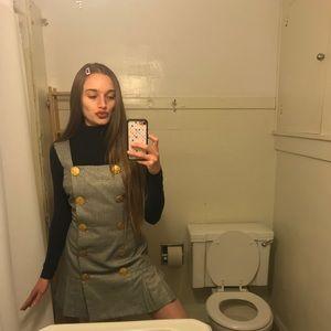 Vintage Houndstooth Mini Dress